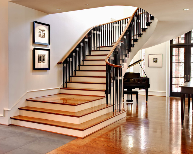 traditional staircase by dustin.peck.photography.inc