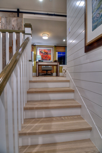 Diamond Beach Cottage Traditional Staircase Orange
