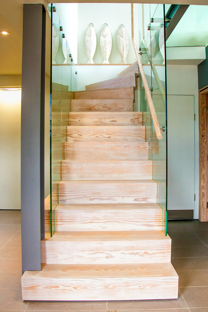 Dineson Douglas Fir Stair Contemporary Staircase Other Metro By Angus Amp Mack Ltd