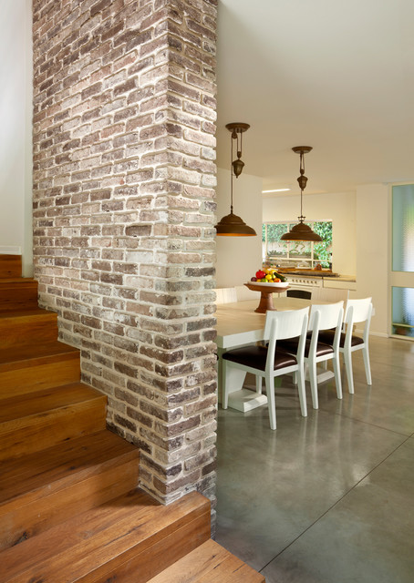 dining room contemporary-staircase