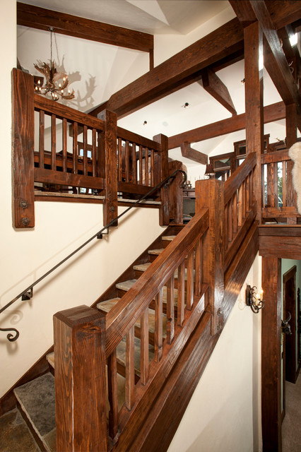 Discovery Hill Rustic Staircase Denver By