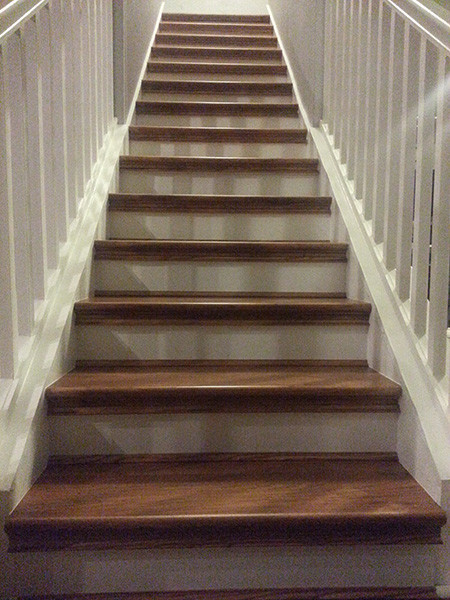 DIY Hickory Carpet To Hardwood Staircase Remodel Traditional