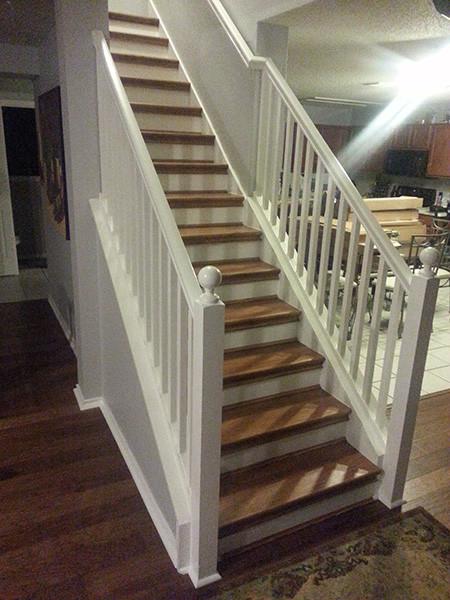 Diy Hickory Carpet To Hardwood Staircase Remodel