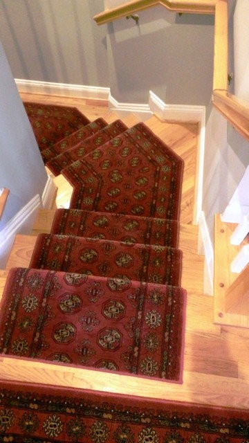 Do It Yourself - Customer Installs from RugDepot traditional-staircase