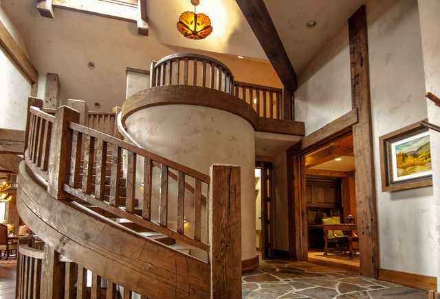 Douglas Fir Timber Project Rustic Staircase Other