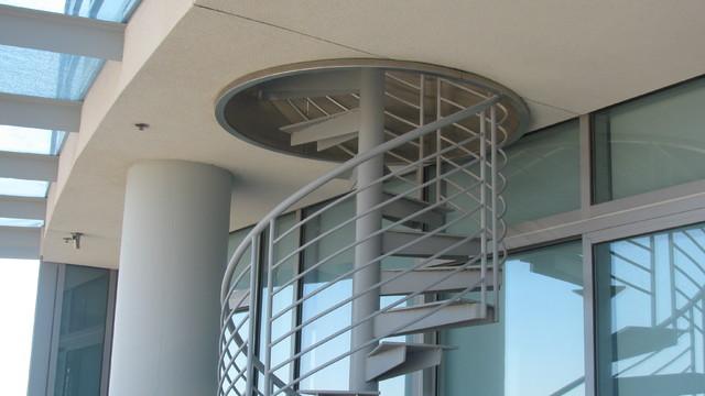 Downtown Bachelor Pad modern-staircase