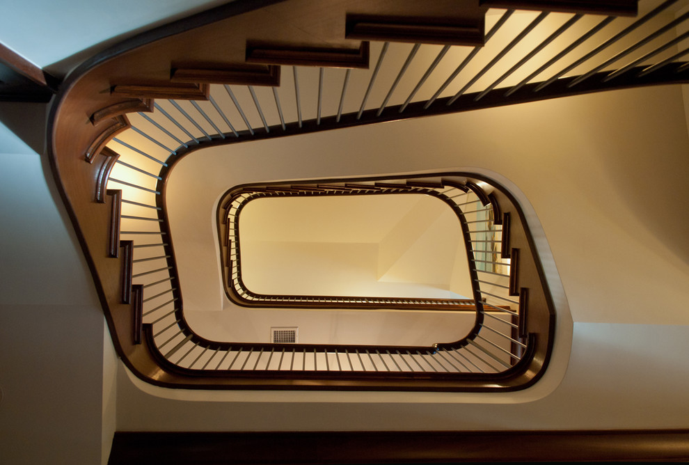 Staircase - contemporary staircase idea in Charleston