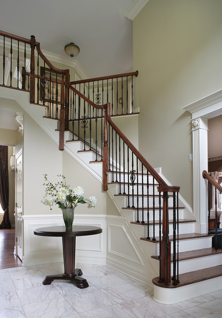 Traditional Foyer Images : Dramatic entry way with staircase traditional