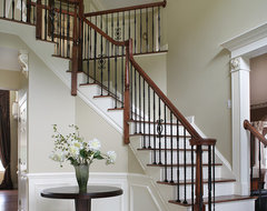Dramatic Entry Way with Staircase traditional-staircase