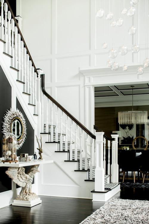 White House Foyer : Black and white foyers