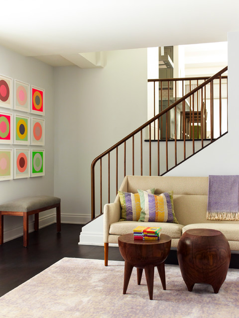 Duane Park Residence transitional-staircase