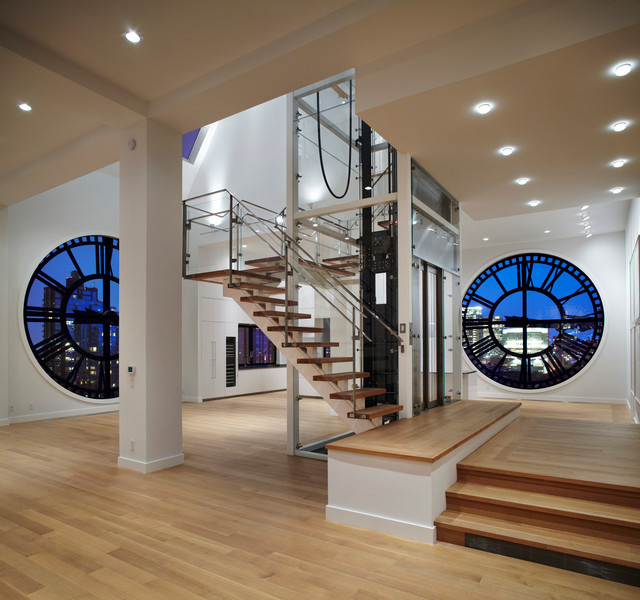 Tower Modern Staircase : Dumbo clocktower penthouse contemporary staircase