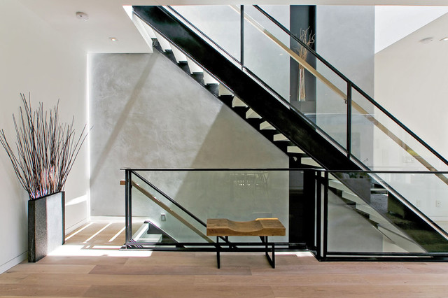 Steel   Glass Staircas...