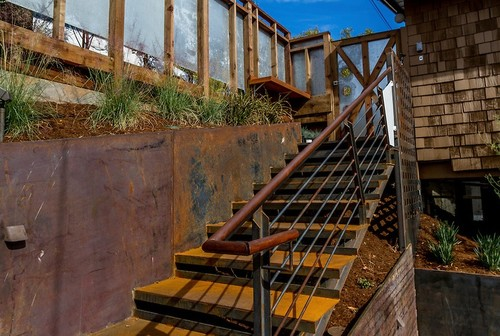 Is The Railing Corten Steel If So Does Rust Come Off On