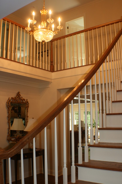 Dutch Colonial To Federal Traditional Staircase
