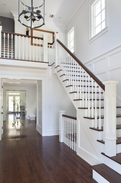 East Hampton Beach House Beach Style Staircase New