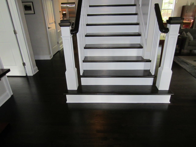 Ebony stained oak floors