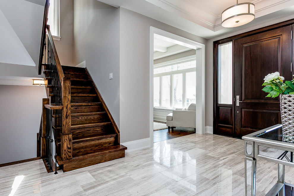 Classic staircase in Toronto.