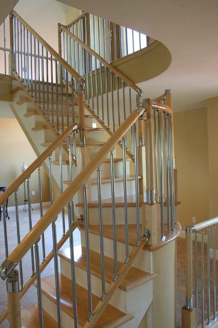 Eclectic Fusion Style Stair Project. Kennedy Residence. Merritt Island. Fl traditional-staircase