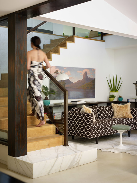 Eclectic Modern contemporary-staircase
