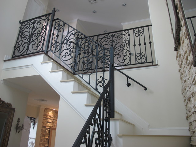 Eclectic NY Luxury Home - IN PROGRESS mediterranean-staircase