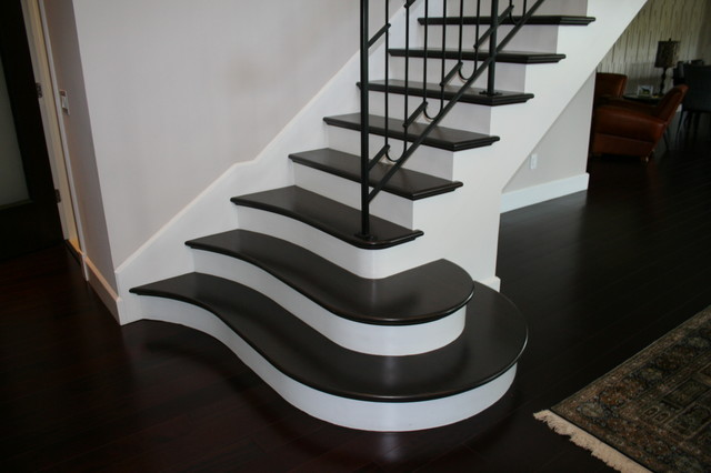 Eclectic- The 'Whale Tale' Stair Project. Stivers Residence. Melbourne FL eclectic-staircase