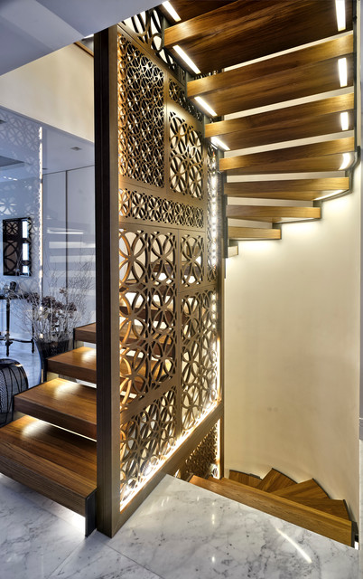 Eclectic Villa In Istanbul Contemporary Staircase
