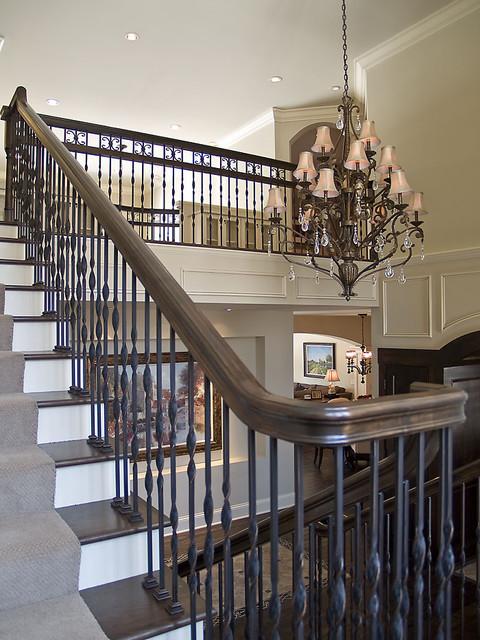 Edina Country Club Custom Designed Home modern-staircase