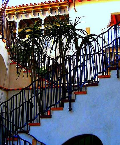 El Anduluz Condominiums, Unit C mediterranean-staircase