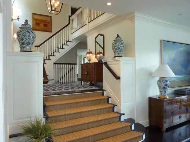 Elegance On The South Cove Traditional Staircase