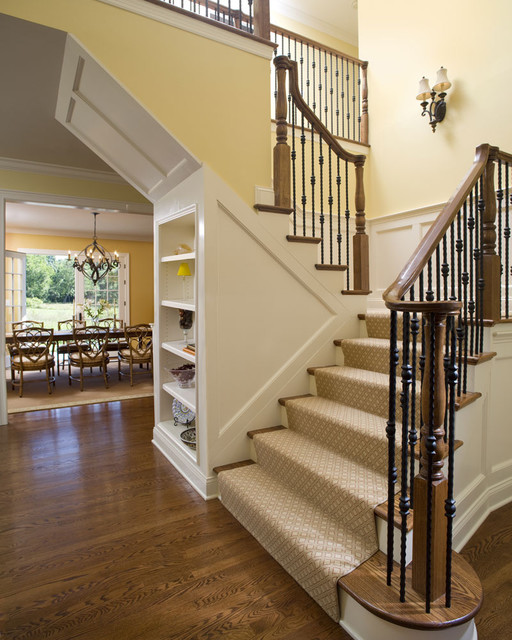 Elegant First Floor Renovation Traditional Staircase