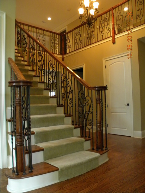 Elegant Staircase Iron Balusters Huntingdon Valley PA