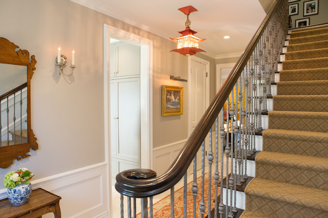 16 Elegant Traditional Staircase Designs That Will Amaze You: Elegant Townhome In Pasadena