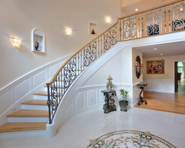Elegant Whole House Remodel - Traditional - Staircase ...