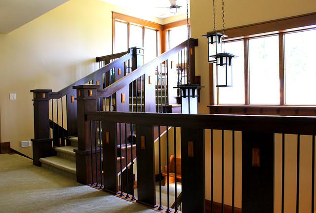 Elkhart 1 Craftsman Staircase Chicago By Helman Sechrist Architecture