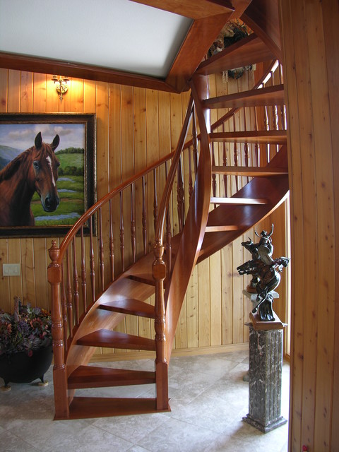 Elliptical stair traditional-staircase