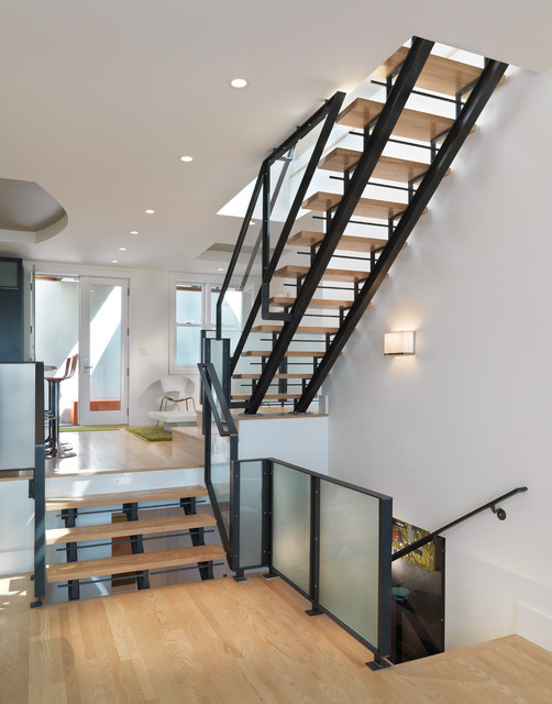 Elsie Street Scandinavian Staircase San Francisco By Rossington Architecture