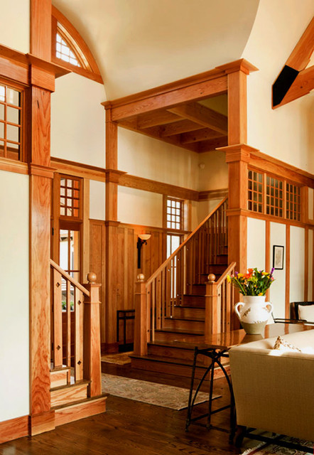 English Arts And Crafts Traditional Staircase Charleston By Mcdonald Architects Llc