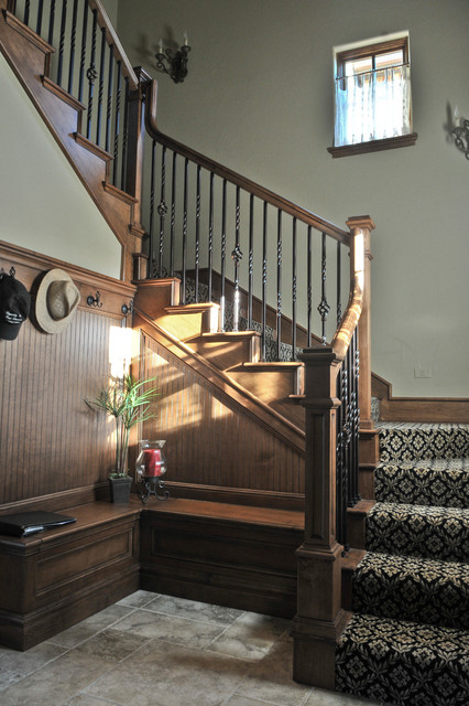 English Manor Traditional Staircase Oklahoma City