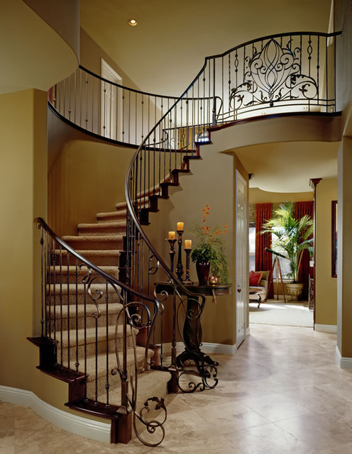 Entry and staircase staircase for Foyer staircase ideas