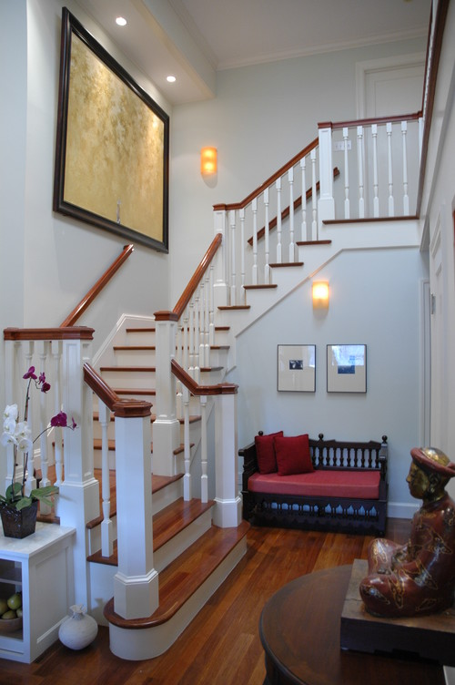 Entry Foyer traditional staircase