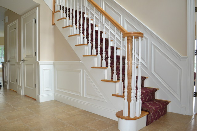 Entry Foyer traditional-staircase