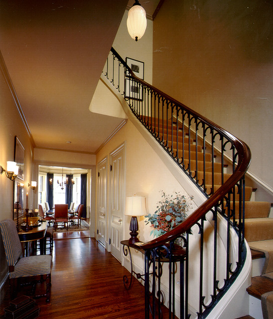 Entry rustic-staircase