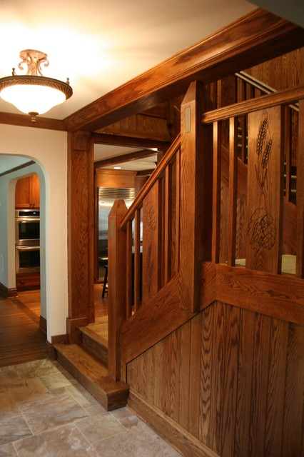 Entry Hall traditional-staircase