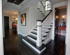 Entry Hall, Stairs and Powder Bath traditional staircase
