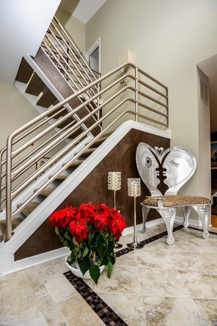 Entry Hallway Contemporary Staircase Baltimore By