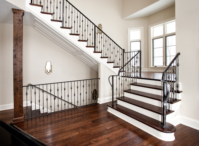 entry stair railing 4 traditional staircase milwaukee by iron creations usa ltd. Black Bedroom Furniture Sets. Home Design Ideas