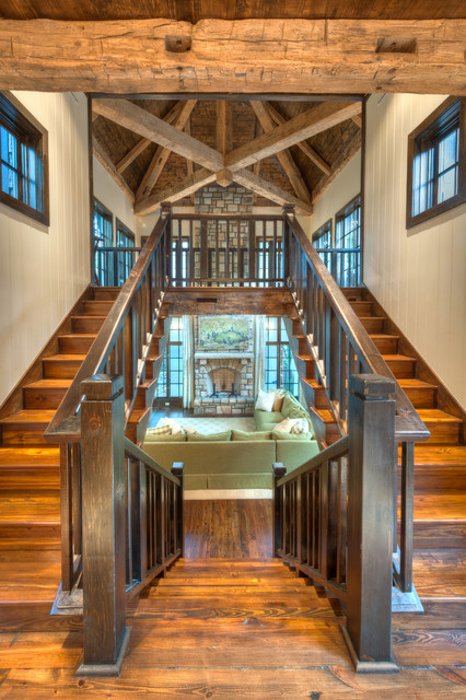 Foyer Staircase Uk : Entryways foyers rustic staircase charlotte by