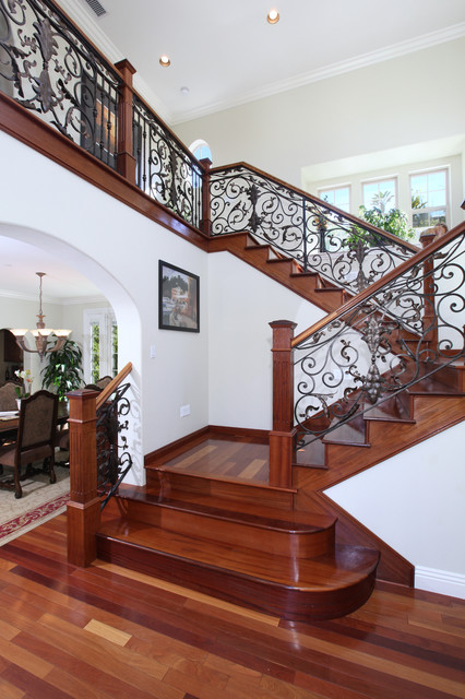 Inspiration for a timeless staircase remodel in Orange County