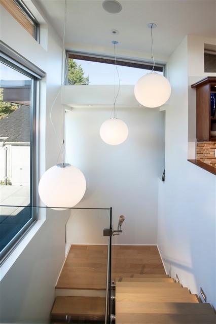 Esquimalt New Home contemporary-staircase